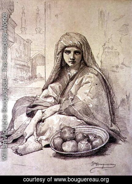 William-Adolphe Bouguereau - Algerian Girl Selling Pomegranates