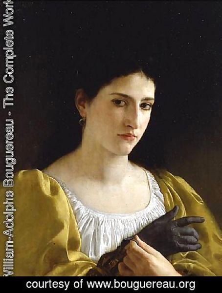 William-Adolphe Bouguereau - Woman and Glove 1870