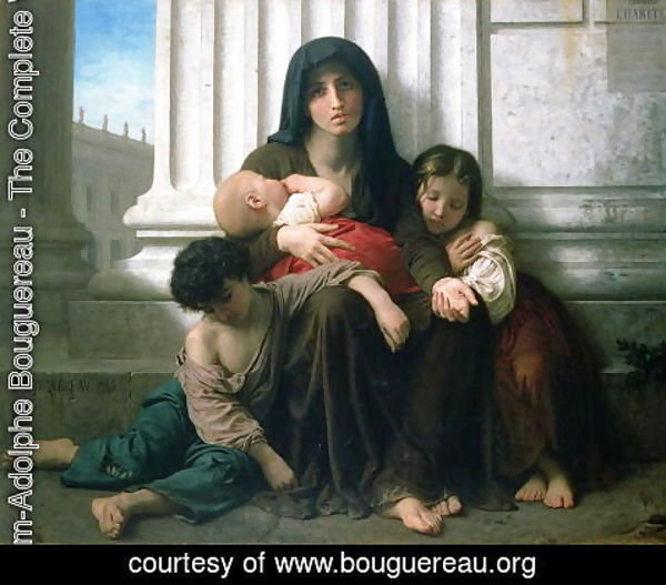 William-Adolphe Bouguereau - Charity or The Indigent Family', 1865