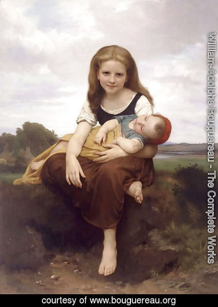 William-Adolphe Bouguereau - The Elder Sister 1869