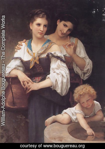William-Adolphe Bouguereau - The Secret 1876