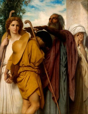 William-Adolphe Bouguereau - Tobias Receives his Father's Blessing 1860