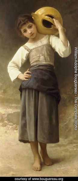 William-Adolphe Bouguereau - The Water Girl (Young Girl Going to the Spring) 1885
