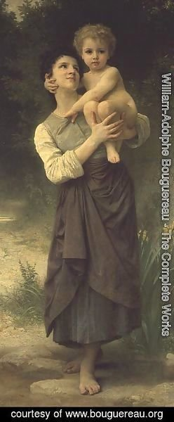 William-Adolphe Bouguereau - Mother and Child, 1887