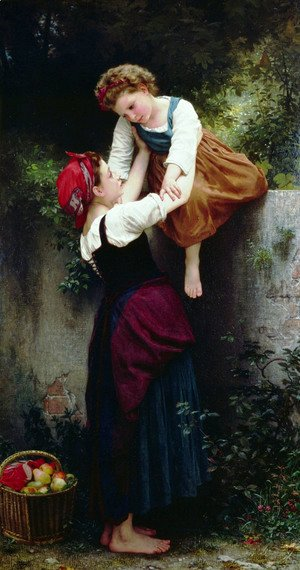 William-Adolphe Bouguereau - Petites Maraudeuses (Little Thieves)
