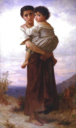 William-Adolphe Bouguereau - Jeunes Bohemiennes (Young Gypsies)