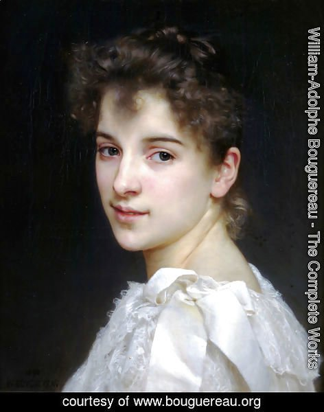 William-Adolphe Bouguereau - Portrait de Gabrielle Cot (Portrait of Gabrielle Cot)