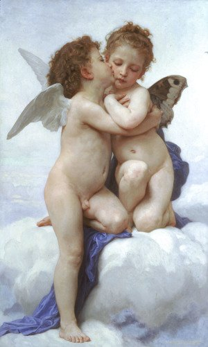 William-Adolphe Bouguereau - L'Amour et Psyche, enfants (Cupid and Psyche as Children)