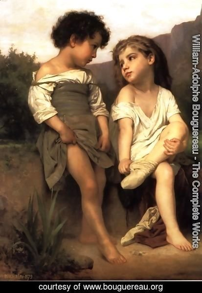 William-Adolphe Bouguereau - Au Bord du Ruisseau (At the Edge of the Brook)