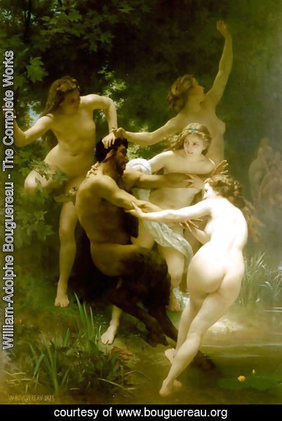 William-Adolphe Bouguereau - Nymphes et Satyre (Nymphs and Satyr)