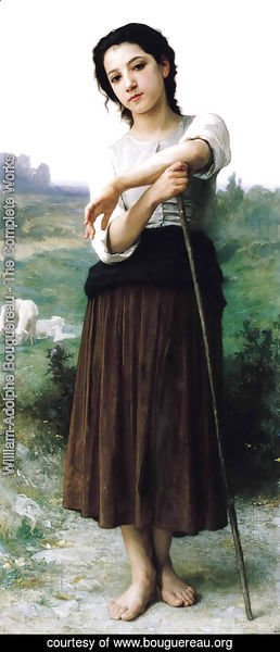 William-Adolphe Bouguereau - Jeune Bergère Debout (Young Shepherdess Standing)