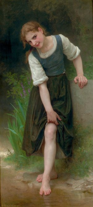 William-Adolphe Bouguereau - Le Gué (The Ford)