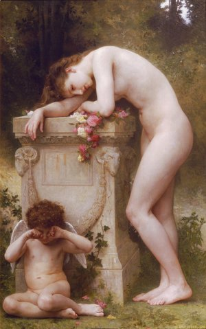 William-Adolphe Bouguereau - Douleur d'amour (Elegy)