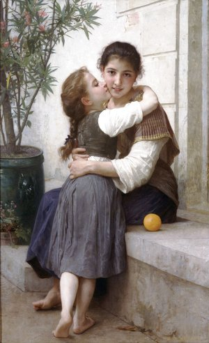 William-Adolphe Bouguereau - Calinerie (A Little Coaxing)