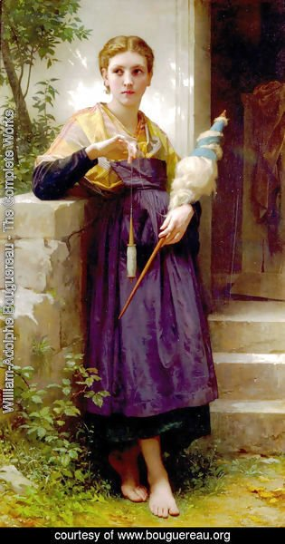 William-Adolphe Bouguereau - Fileuse (The Spinner)