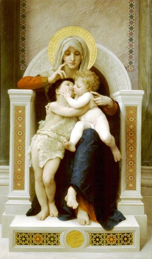William-Adolphe Bouguereau - La Vierge, L'Enfant Jesus et Saint Jean Baptiste (The Virgin, the Baby Jesus and Saint John the Baptist)