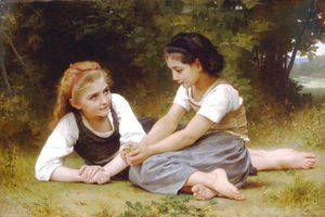 William-Adolphe Bouguereau - Les Noisettes (Hazelnuts) (or The Nut Gatherers)