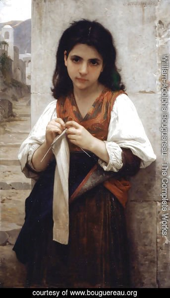 William-Adolphe Bouguereau - Tricoteuse (The Little Knitter)