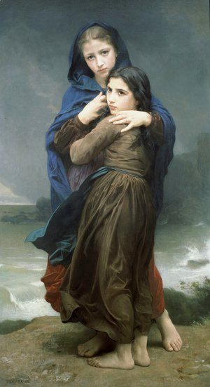William-Adolphe Bouguereau - L'Orage (The Storm)