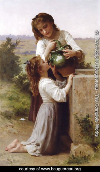 William-Adolphe Bouguereau - A la Fontaine (At the Fountain)