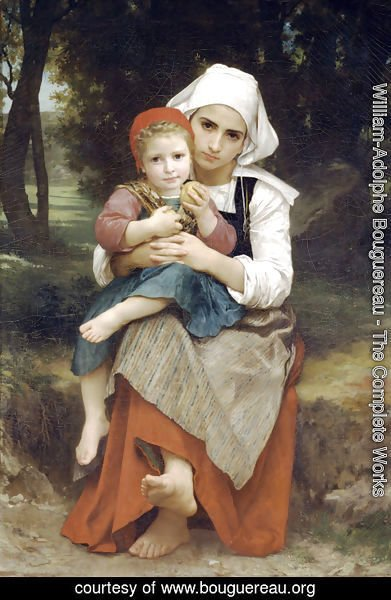 William-Adolphe Bouguereau - Frère et sœur Bretons (Breton Brother and Sister)