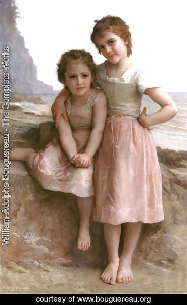 William-Adolphe Bouguereau - Sur la Greve (On the Rocky Beach)