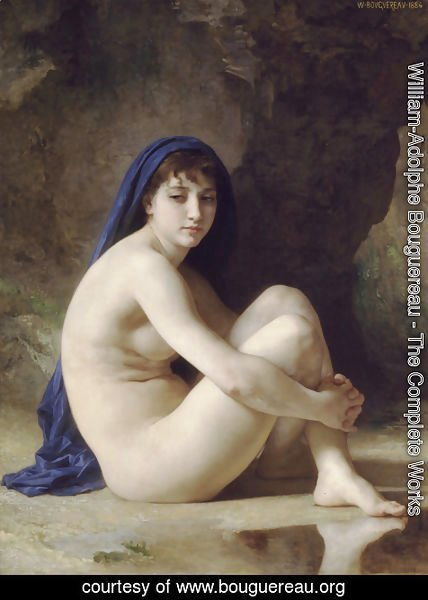 William-Adolphe Bouguereau - Baigneuse Accroupie (Seated Bather)
