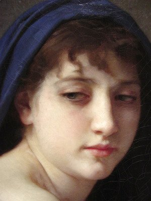 William-Adolphe Bouguereau - Baigneuse Accroupie [detail #1] (Seated Bather)