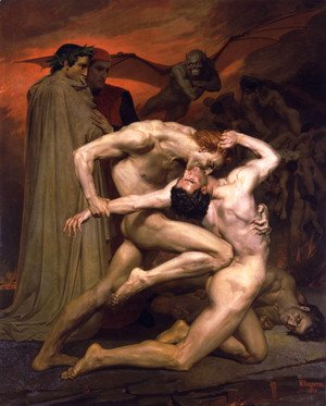 William-Adolphe Bouguereau - Dante et Virgile au Enfers (Dante and Virgil in Hell)