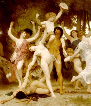William-Adolphe Bouguereau - La Jeunesse de Bacchus [detail: centre] (The Youth of Bacchus)