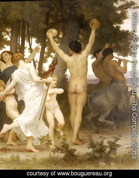William-Adolphe Bouguereau - La Jeunesse de Bacchus [detail: right] (The Youth of Bacchus)