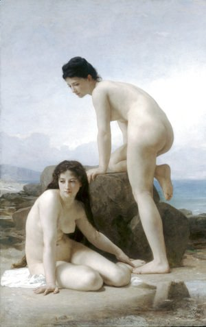 William-Adolphe Bouguereau - Les Deux Baigneuses (The Two Bathers)
