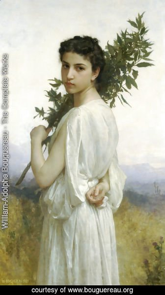 William-Adolphe Bouguereau - Branche de Laurier (Laurel Branch)