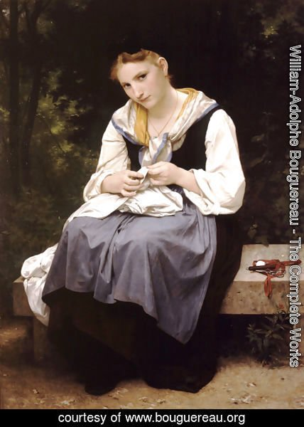 William-Adolphe Bouguereau - Jeune Ouvriere (Young Worker)