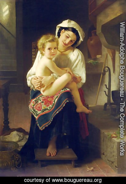 William-Adolphe Bouguereau - Le Lever (Up You Go)
