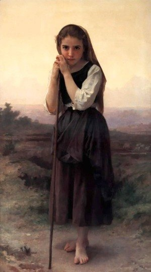 William-Adolphe Bouguereau - Petite Bergere (Little Shepherdess)