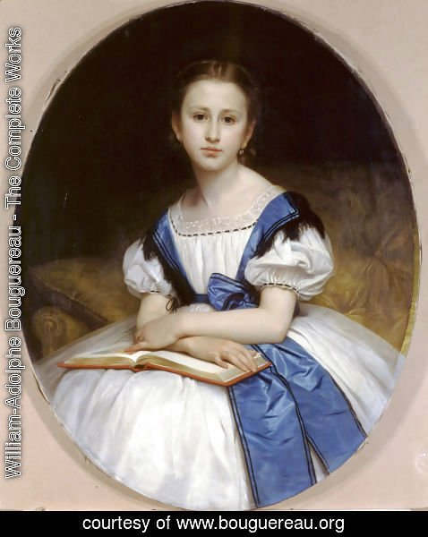 William-Adolphe Bouguereau - Portrait de Mlle Brissac (Portrait of Miss Brissac)