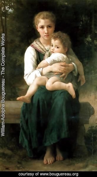 William-Adolphe Bouguereau - Les Deux Soeurs (The Two Sisters)