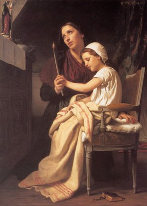 William-Adolphe Bouguereau - Le voeu (The Vow) (or The Thank Offering)