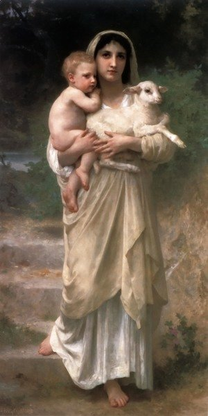 William-Adolphe Bouguereau - Les agneaux (Lambs)