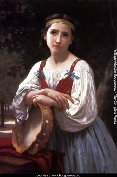 Bohemienne au Tambour de Basque (Gypsy Girl with a Basque Drum)