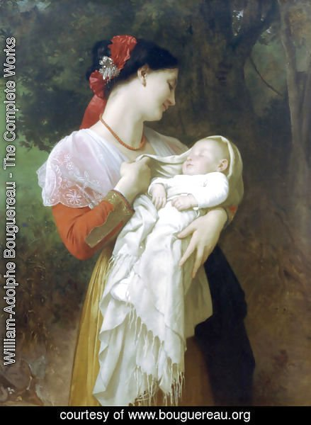 William-Adolphe Bouguereau - Admiration Maternelle (Maternal Admiration)