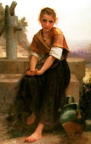 William-Adolphe Bouguereau - La Cruche Cassée (The Broken Pitcher)