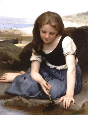 William-Adolphe Bouguereau - Le crabe (The Crab)