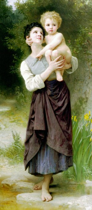 William-Adolphe Bouguereau - Frère et sœur (Brother and Sister)