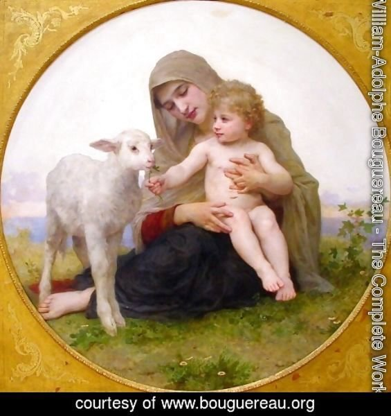 William-Adolphe Bouguereau - La Vierge à L'agneau (Virgin and Lamb)