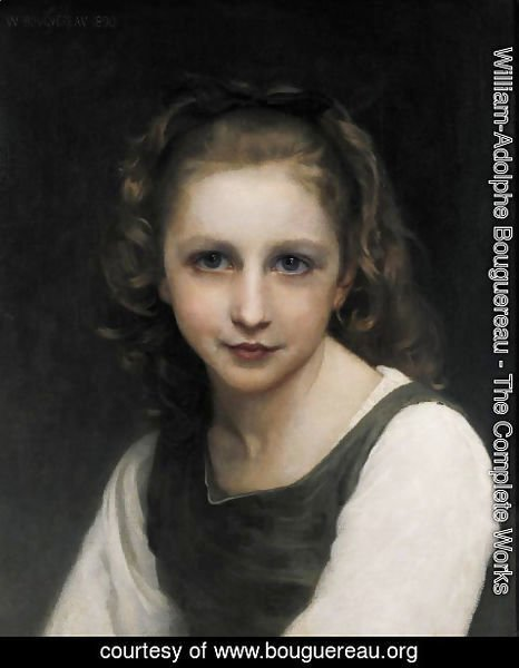 William-Adolphe Bouguereau - Portrait of a young girl