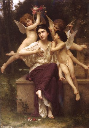 William-Adolphe Bouguereau - Rêve de printemps (A Dream of Spring)