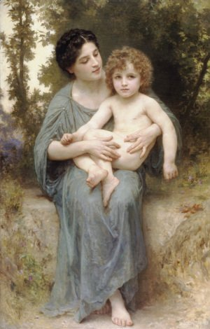 William-Adolphe Bouguereau - Le jeune frere (Little brother)