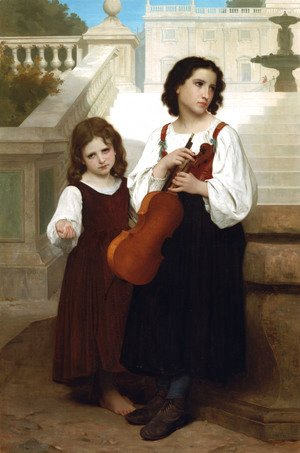 William-Adolphe Bouguereau - Loin du pays (Far from home)